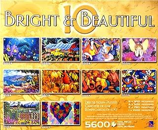 10 BRIGHT & BEAUTIFUL 10 PACK PUZZLE BOX SET Featuring Patricia Govezensky's Tea Time
