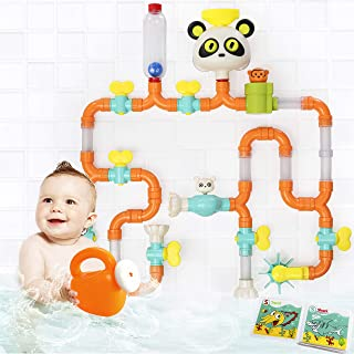 Sponsored Ad - Top Right Toys Bath Pipes Building Bathtub Toy- Tubes Builder Water Bath Toys for Toddlers and Kids, 42 Pieces