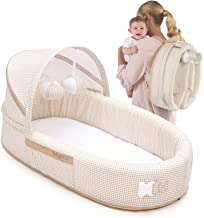 Lulyboo Bassinet To-Go Infant Travel Bed - Baby Lounge - Combines Crib, Playpen and Travel Bassinet, Natural
