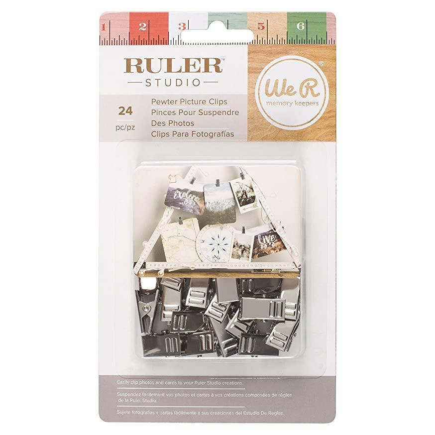 American Crafts We R Memory Keepers Ruler Studio Picture Clips 24 Piece