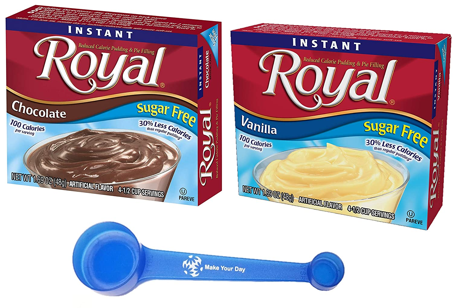 Royal Instant Sugar Free Pudding  Pie Filling Mix, Chocolate an