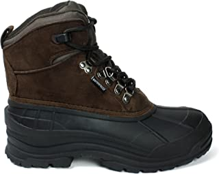LABO Men's Snow Boots Waterproof Insulated Lace UP 2 Style by CITISHOESNYC (10, CI103Brown)