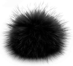 Faux Fox Fur Pom Pom Fluffy Pompom Ball for Knitted Beanies Hats Shoes Scarves Bag Charms Accessories