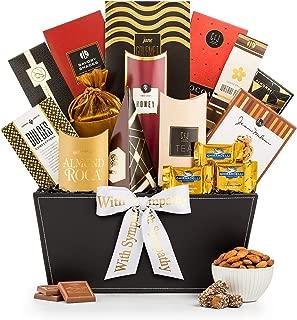 GiftTree Broadway Gourmet Sympathy Gift Basket | Ghirardelli Chocolates, Pomegranate Truffles, Popcorn & More. | Send Heartfelt Condolences