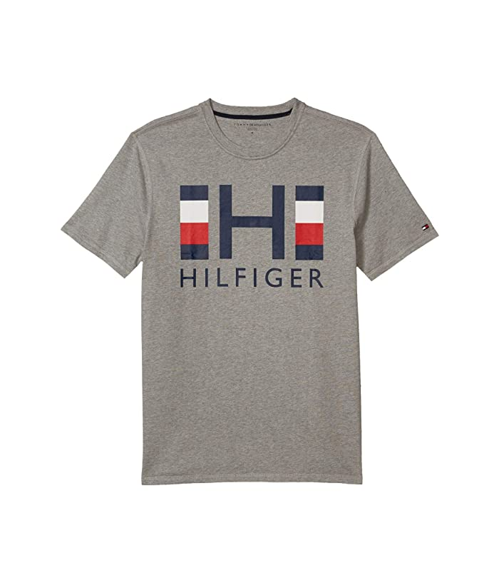 Tommy Hilfiger Adaptive  Keith Tee Sensory (Grey Heather) Mens Clothing