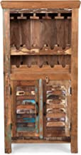 Sandy Wooden Bar Cabinet, Distressed Paint