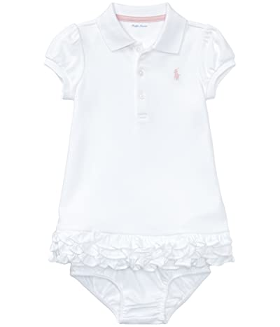Polo Ralph Lauren Kids Interlock Cupcake Dress (Infant) (White) Girl