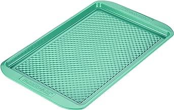Farberware 46328 Ceramic Nonstick Bakeware, Nonstick Cookie Sheet / Baking Sheet - 11 Inch x 17 Inch, Aqua Blue