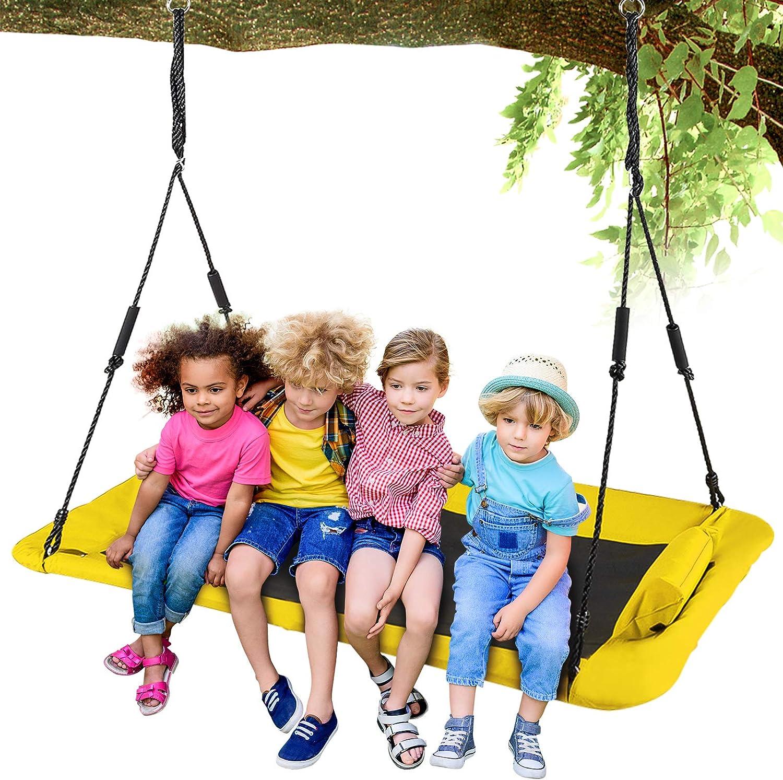 LITTLELOGIQ Tree Swing for Kids, 59 Inch Outdoor Swing Sets for