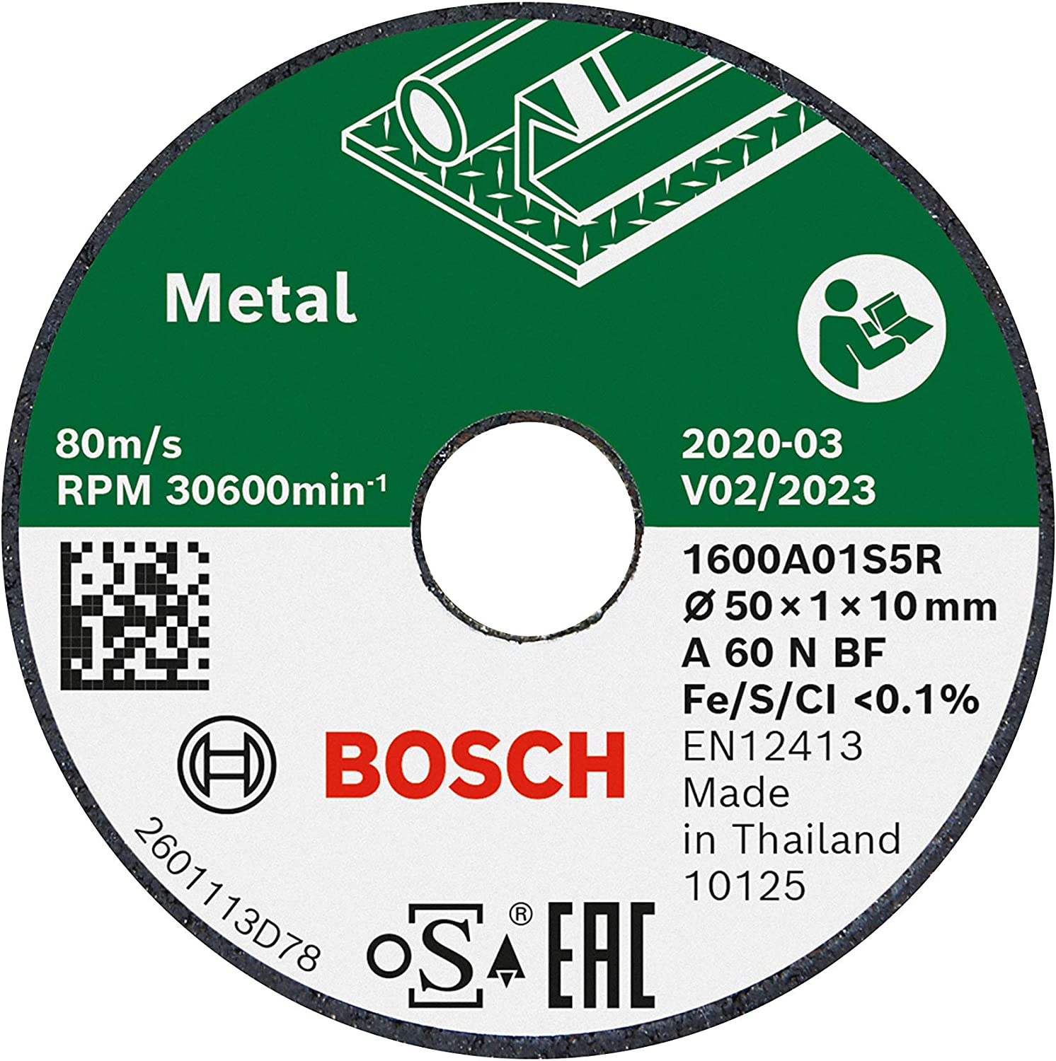 sold out Elegant Bosch Home and Garden 1600A01S5Y 3 Ø Cutting for Discs 5 Metal