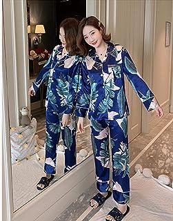 Pijamas Ropa De Dormir Conjunto De Pijamas De Mujer Nuevo Pijamas De Punto De Primavera Y Otoño Pijamas De Seda Sensación De Ropa De Dormir Pijamas De Mujer Rop