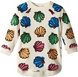 Stella McCartney Kids Sapphire Knit Dress w/ Colorful Seashell Print (Toddler/Little Kids/Big Kids)