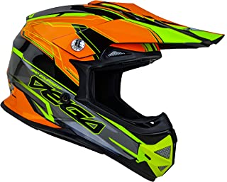 Vega Helmets Unisex-Child Youth Off Road Helmet (Orange Stinger Graphic, Medium)