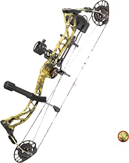 """PSE ARCHERY Brute NXT Compound Bow Package- Draw Range 22 ½""""- 30""""- Draw 55-70LB Pull- Up to 328 fps- Quiver & More- Made in USA"""
