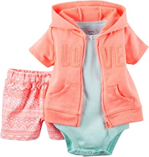 Carter's Baby Girls' Cardigan Sets 121g382, Coral, 24 Months