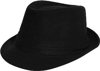 Men's Women's Manhattan Structured Gangster Trilby Wool Fedora Hat Classic Timeless Light Weight