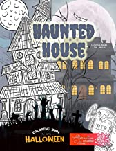 HAUNTED HOUSE coloring books for adults - Halloween coloring book for adults: A halloween haunted house coloring book for ...