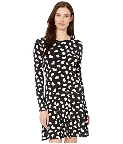MICHAEL Michael Kors Petal Passion Flounce Dress (Black) Women