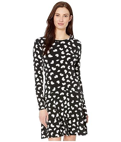 MICHAEL Michael Kors Petal Passion Flounce Dress (Black) Women