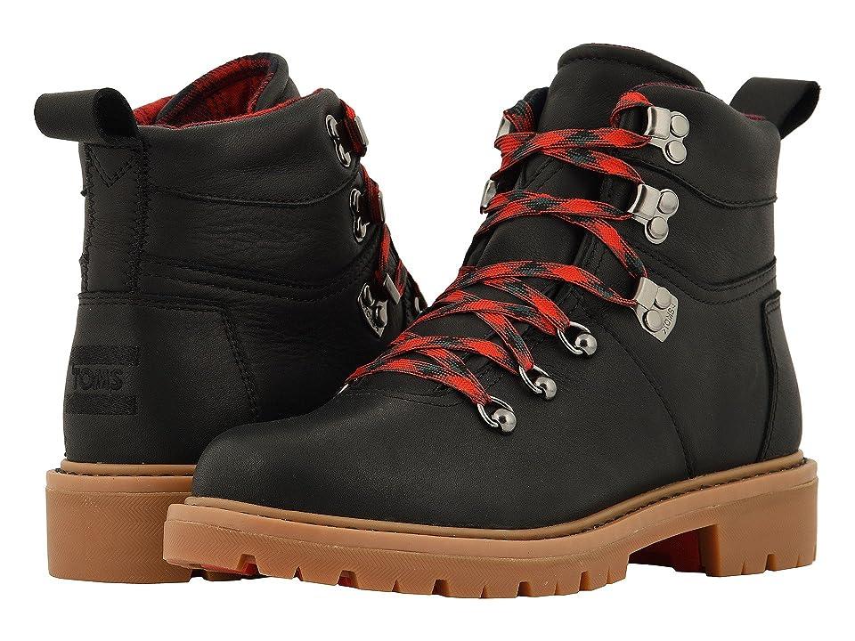 TOMS Summit Waterproof Boot (Black Waterproof Leather) Women