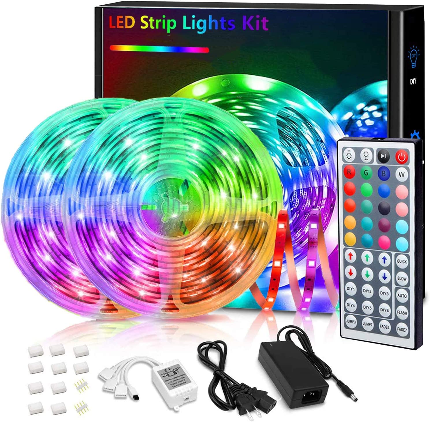 Regular store Led Strip Lights 32.8FT RGB Color Changing K 44 Cheap mail order shopping LED with
