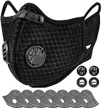AstroAI Stofmasker met 7 6-laagse filters & 4 ademventielen, herbruikbare neusbescherming, mondbescherming, masker voor ha...