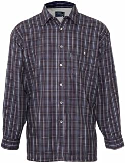 Mens Checked Shirt Fleece Lined Long Sleeve
