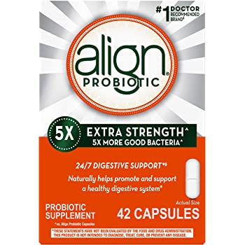 Align Extra Strength Probiotics Supplement, Vegan and Gluten Free, 42 Capsules, Digestive Support for Men and Women