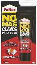 Pattex No Mas Clavos Para Todo HighTack, adhesivo de montaje resistente a temperaturas extremas, pegamento fuerte en superficies húmedas, adhesivo blanco, 1 tubo x 142 g