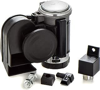 Motorcycle Air Compressor Horn Black by Enduralast