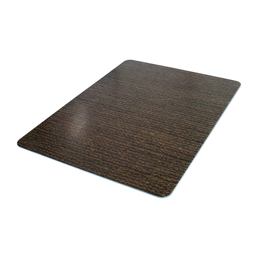 Deflecto DuraMat Decorative Chair Mat, Low Pile Carpet Use, Rectangle, Straight Edge, 36 x 48 Inches, Chenille Jute Print (CM13142HCJ)