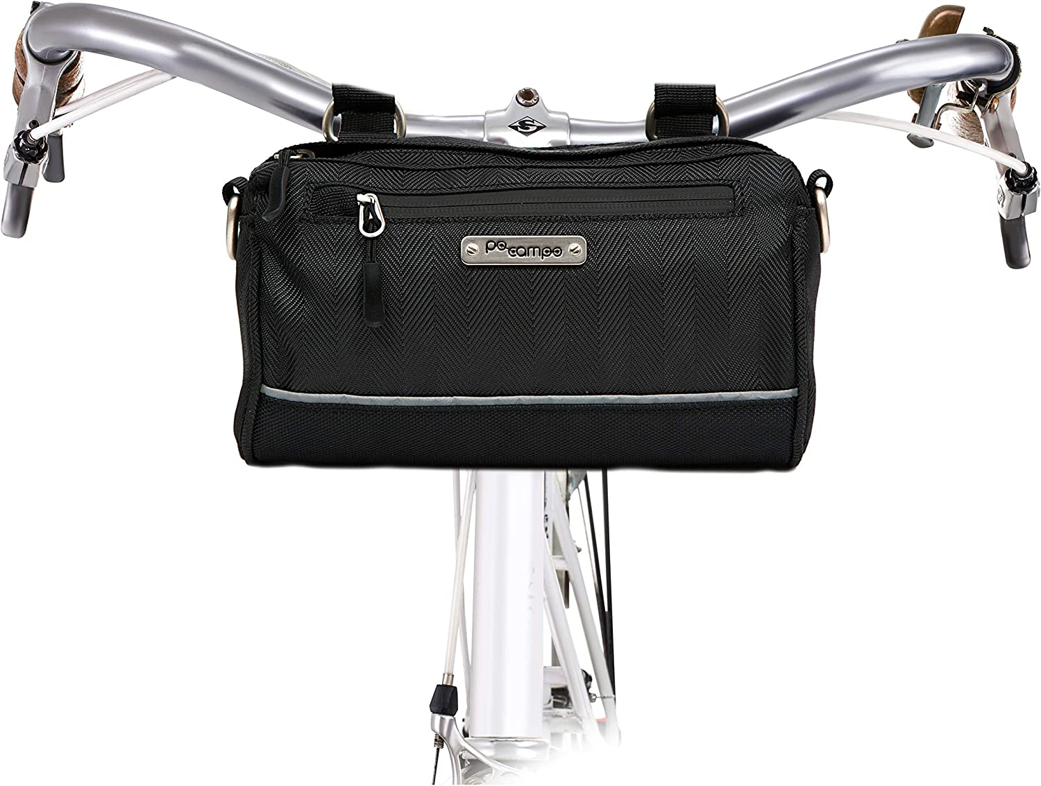 Multiple Colors Po Campo Kinga Handlebar Bike Bag Purse Weatherproof Water Resistant Front Bicycle Bag That Converts to a Crossbody Bag