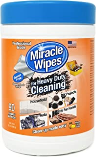 MiracleWipes for Heavy Duty Cleaning - All Purpose Cleaner, Kitchens, Bathrooms, Countertops, Hands, Indoors, Outdoors - Removes Grease, Grime, Crayon, Dirt & More - Cleaning Supplies - (90 Count)