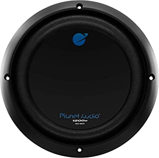 $33 » Planet Audio AC8D 8 Inch Car Subwoofer - 1200 Watts Maximum Power, Dual 4 Ohm Voice Coil, Sold Individually (Renewed)