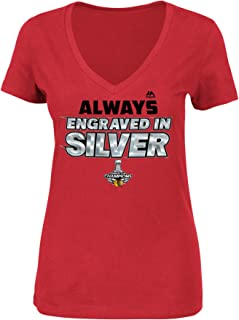 Majestic Chicago Blackhawks 2015 Stanley Cup Champs Womens Always Determined T-Shirt X-Large