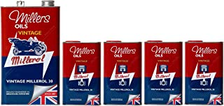 Millers Vintage Millerol 30 Aceite de Motor Monograde sin detergente, 9 litros