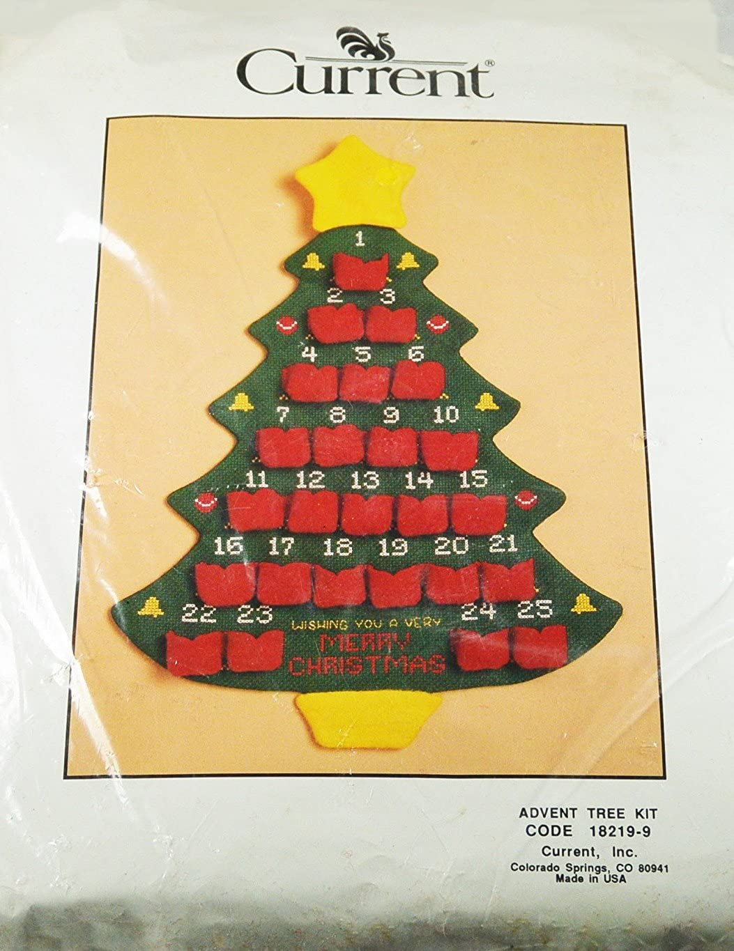 favorite Christmas Fashionable Tree Advent Calendar Counted Stitch Curre by Kit Cross