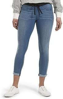 Women's Sweatshirt Denim Cuffed Capri Leggings