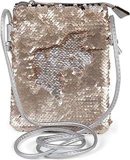 styleBREAKER Mini Bag Umhängetasche mit Wende-Pailletten, Schultertasche, Handtasche, Tasche, Damen 02012240, Farbe:Silbe...