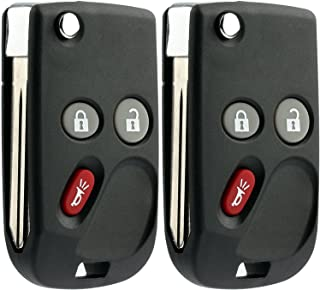 KeylessOption Keyless Entry Remote Control Car Flip Ignition Key Fob Replacement for Chevy GMC Cadillac LHJ011 (Pack of 2)