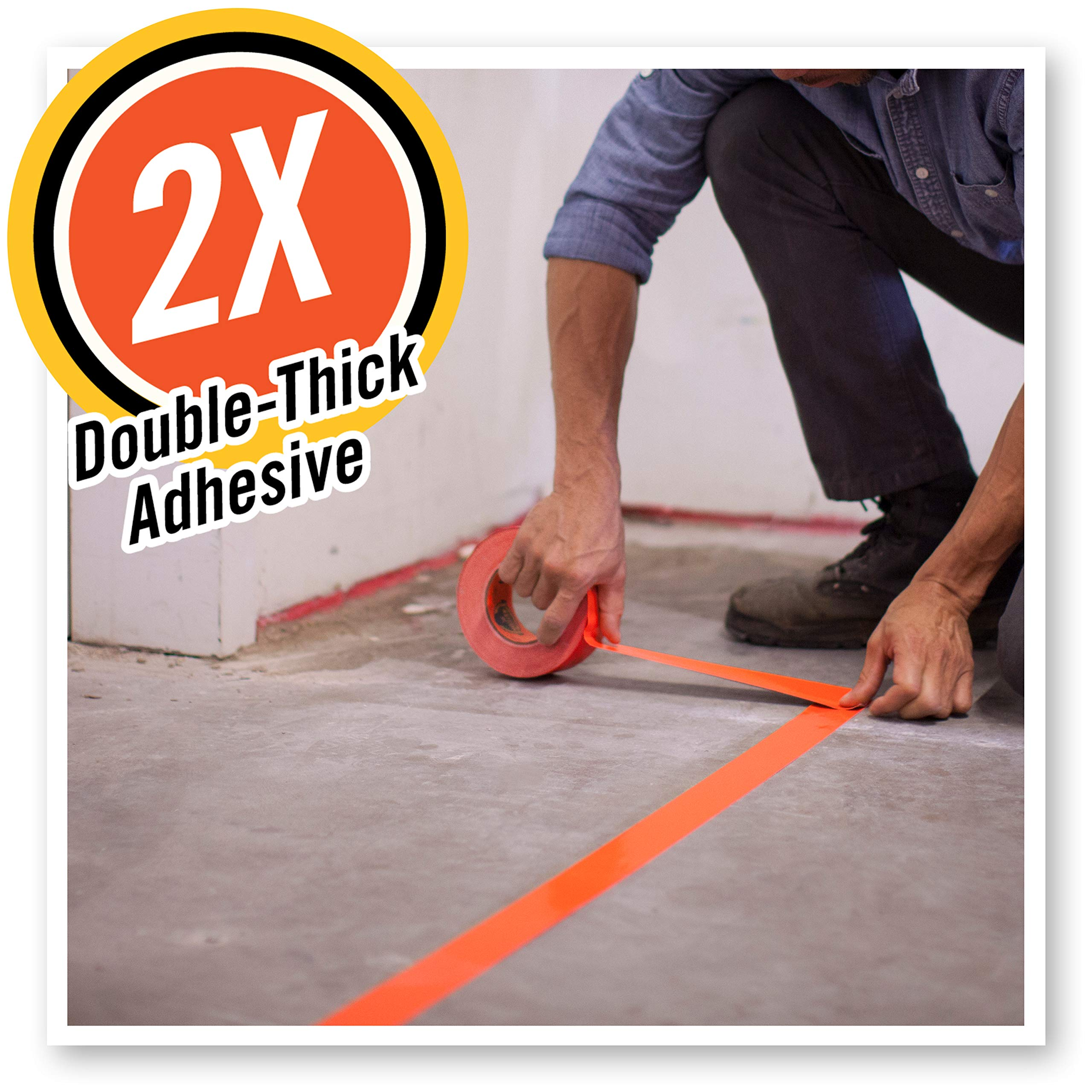 Blaze Orange, 1.88 in Pack of 1 High Visibility Duct Tape x 35 yd