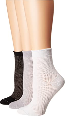 HUE - Mesh Roll Top Sock 3-Pair Pack