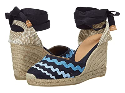 CASTANER Craby 80 Wedge Espadrille (Azul/Multicolor) Women