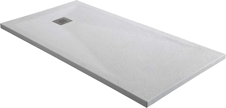 Piatto Doccia in Marmoresina da 2,7 cm di Spessore Colore Bianco 9003