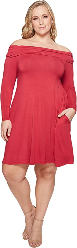KARI LYN - Plus Size Felicia Off Shoulder Dress