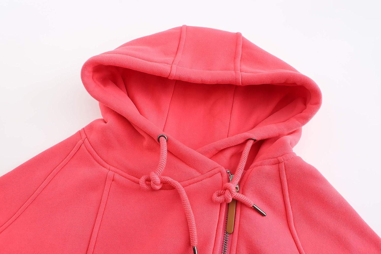 ELFIN Womens Jackets Oblique Zipper Hoodies Winter Jacket Coat for Women