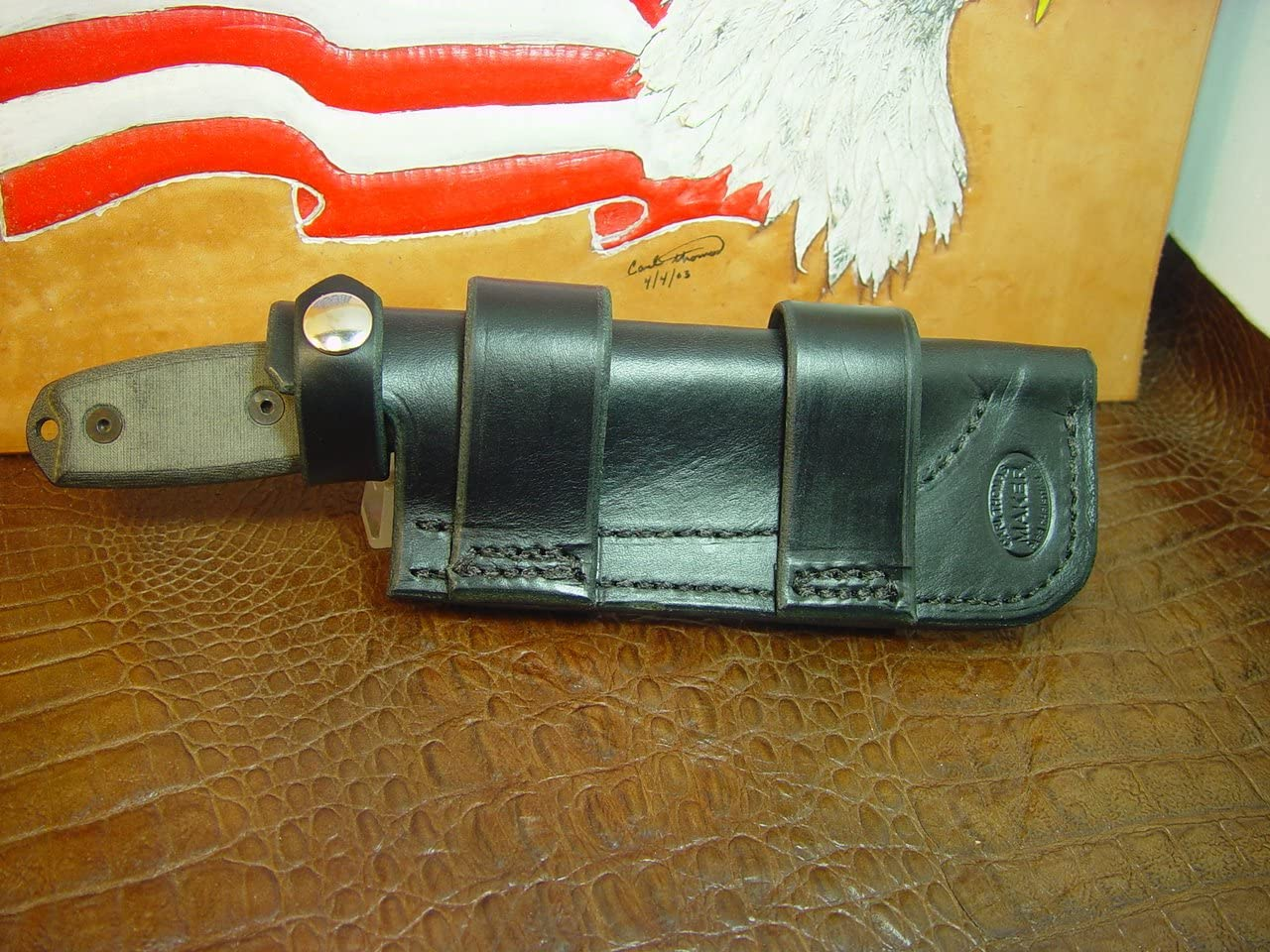 Custom Hand-Made 5 ☆ popular Horizontal Knife Sheath Made Fit 4 Rat At the price the to
