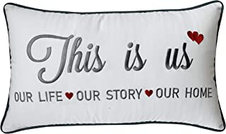 EURASIA DECOR DecorHouzz This is us Appliqued Decorative Cushion Cover Pillow Cases Cover Standard Throw Pillow Case Couple Wedding Love Gift 14