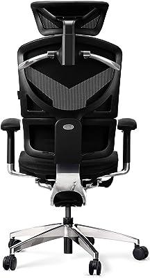 Diablo V-Dynamic Silla de Escritorio ergonómica Silla de Oficina apoyabrazos Ajustables Malla Cuero sintético