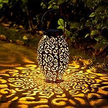 OxyLED Solar Lantern, LED Solar Garden Lights Outdoor, Hanging Lantern Solar Powered with Handle Waterproof, Decorative Re...